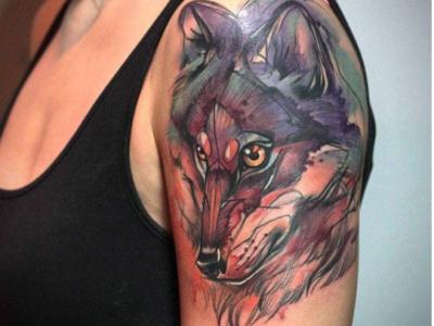 wolf tattoo evil