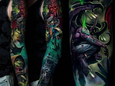 קעקוע צבועני comics tattoo fantasy