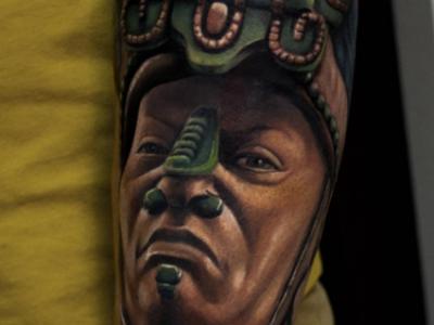 אצטקי תרבות אינדיאנית שאמן