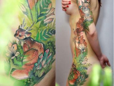 יער חיות בר ואישה